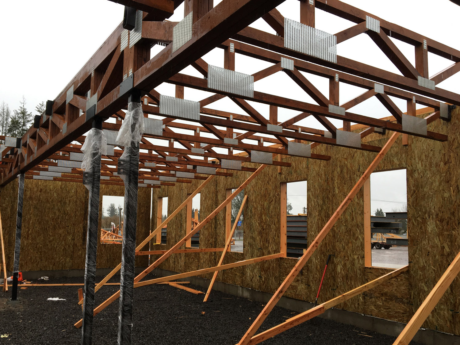Oregon truss co our products roof floor and special for Cost to install trusses